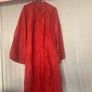 Red cap & gown